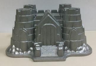 A castle shaped bundt cake pan.