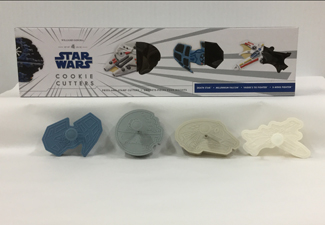 A set of Star Wars themed cookie cutters.