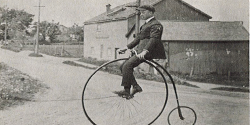 Man on a uniciycle