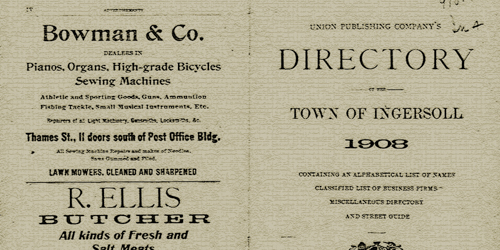 directory town of ingersoll 1808