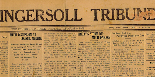 ingersoll tribuine old paper