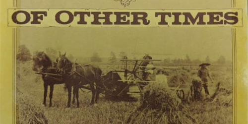 Of other times book cover of horses working feild