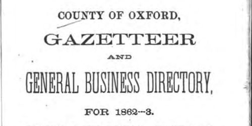 Oxford county gazetteers book cover